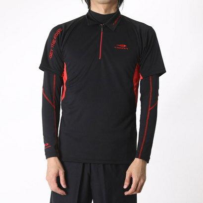 【アウトレット】ティゴラ TIGORA メンズ ゴルフ セットシャツ TR-1L1566RYZ (ブラック)