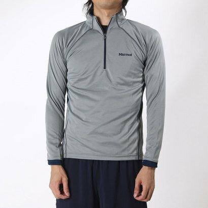 マーモット Marmot メンズ トレッキング 長袖Tシャツ HEAT NAVI L/S ZIP MJK-F6041 (グレー)