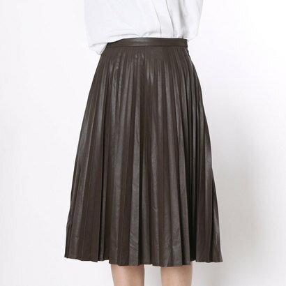 【アウトレット】クリアインプレッション CLEAR IMPRESSION フェイクレザー SKショートスカート (コゲチャ)