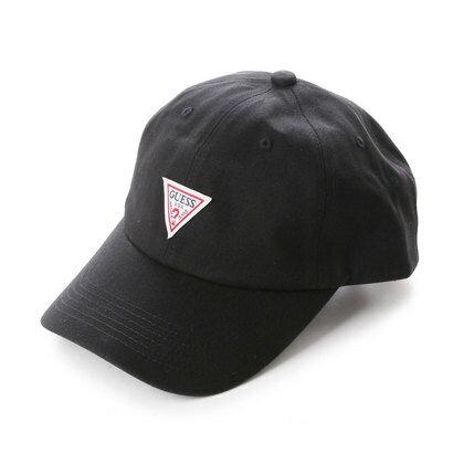 ゲス GUESS TRIANGLE LOGO CANVAS 6 PANEL CAP (BLACK)