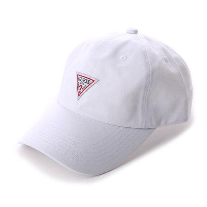ゲス GUESS TRIANGLE LOGO CANVAS 6 PANEL CAP (WHITE)