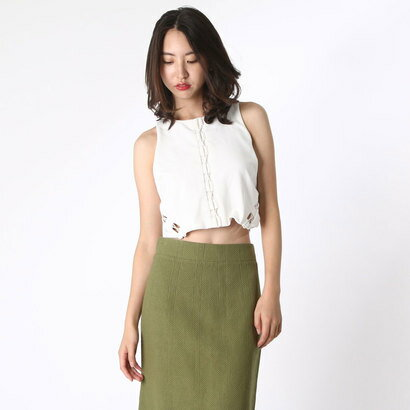 【アウトレット】ゲス GUESS SL MONA LACE UP CROP TOP (SCUFFY)