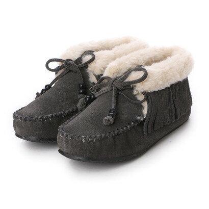 【アウトレット】ミネトンカ Minnetonka mi-fringe-slipper-bootie-40019 (GREY)