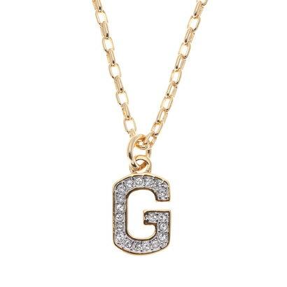【アウトレット】ゲス GUESS LITTLE SPARKLE G NECKLACE (GOLD)