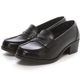 SHOE・PLAZA セダークレスト CEDAR CREST ウォッシャブル(ブラック)ローファー/学生靴/洗える