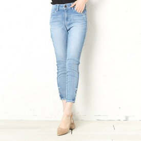 ゲス GUESS MARILYN 3-ZIP SKINNY DENIM PANT (LIGHT BLUE)【JAPAN EXCLUSIVE ITEM】
