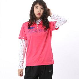 マリ クレール marie claire レディース ゴルフ 長袖シャツ 半袖ジップシャツ(インナーセット) 717506