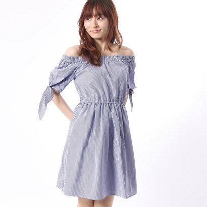 【アウトレット】ゲス GUESS CONSUELO DRESS (BLUE WHITE STRIPE CO)