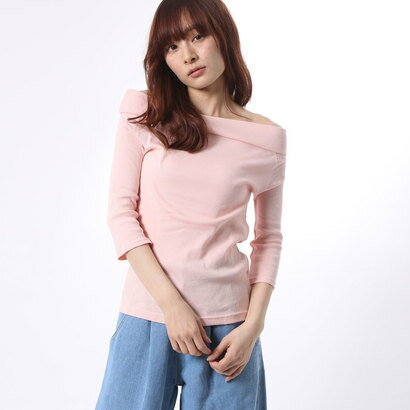 【アウトレット】アンチュール エミュ Unchulle' emu 無地6分袖Tシャツ (ピンク)