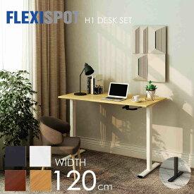 FlexiSpot フレキシスポット スタンディングデスク オフィスデスク 高さ調節 手動式 昇降デスク 昇降テーブル 学習机 書斎テーブル パソコンデスク 机 デスク H1シリーズ 天板120*60cm四色選択 脚部二色選択可能