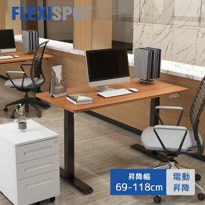 FLEXISPOT フレキシスポット 電動式 スタンディングデスク 脚 作業台 学習机 昇降デスク パソコンデスク 高さ調節 オフィスデスク EJ2B ブラック 障害物検知機能付き(天板別売り)