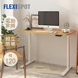スタンディングデスク 昇降デスク 電動 組立簡単 FlexiSpot E9 フレキシスポット オフィスデスク 高さ調節 電動式 パソコンデスク 昇降テーブル デスク 机 高さ調節 昇降 作業台 幅120cm