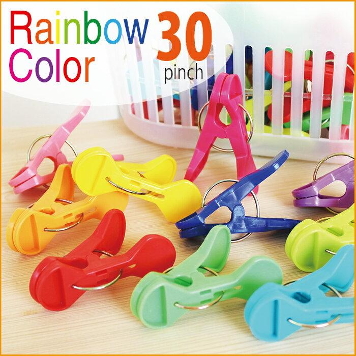 Sunny Rainbow サニーレインボー ランドリーピンチ 30pcs入 収納カゴ付き 洗濯干しピンチ 洗濯ばさみ 洗濯バサミ 物干しピンチ 物干しハンガー