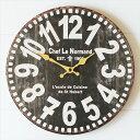 OLD LOOK 壁掛け時計 ブラック 木製 掛け時計 ウォールクロック インテリアクロック アンティーク ビンテージ レトロ …