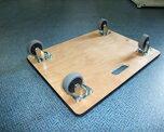 鈴木金属工業木製平台車DX450×300×83mm(H)80kg【台車運搬台車折りたたみ台車】