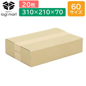 60サイズ 310×210×70 20枚 (梱包 小型 こがた ミニ 小さい 通販 つうはん 段ボール だんぼーる)