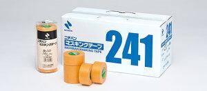 ニチバン マスキングテープ #241 茶 50mm×18M 【1箱20巻入】(マスキング 紙テープ 塗装 車両用 建築塗装 養生用 格安 養生)