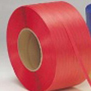 セキスイPPバンド機械用SSストラップ赤15.5mm×2500M1ケース2巻【PPバンド梱包こんぽう引越し梱包資材梱包用品】