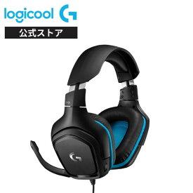 Logicool G ゲーミングヘッドセット 有線 G431 7.1ch Dolby 3.5mm usb 軽量 ノイズキャンセリング 単一性 フリック式マイク PC/PS5/PS4/Switch/Xbox/スマホ 国内正規品 2年間無償保証