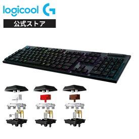 Logicool G ゲーミングキーボード 無線 G913 GLスイッチ リニア メカニカルキーボード 静音 日本語配列 LIGHTSPEED ワイヤレス Bluetooth接続対応 LIGHTSYNC RGB G913-LN 国内正規品 2年間無償保証