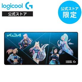 【新製品】Logicool G LoL K/DA XLゲーミングマウスパッド G840 リーグ・オブ・レジェンド League of Legends ラバーベース ワイドサイズ G840-LOL 国内正規品 1年間無償保証