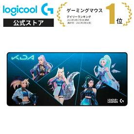 Logicool G LoL K/DA XLゲーミングマウスパッド G840 リーグ・オブ・レジェンド League of Legends ラバーベース ワイドサイズ G840-LOL 国内正規品 1年間無償保証