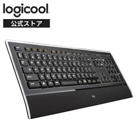 ロジクール イルミネートキーボード K740 有線 キーボード 充電式 薄型 有線キーボード windows 国内正規品 3年間無償保証