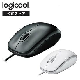 ロジクール 有線 マウス 小型 左右対称型 USB 簡単接続 M100rBK M100rWH 国内正規品 3年間無償保証