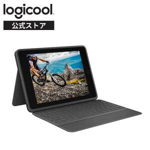 ロジクール iPad 10.2インチ 対応 第8世代 第7世代 キーボード iK1054BKA グラファイト RUGGED FOLIO 薄型 スマートコネクター対応 キーボード一体型 ケース Smart Connector 米軍規格の落下試験を超える