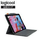 ロジクール iPad 10.2 インチ 対応 第8世代 第7世代 キーボード iK1055BK グラファイト SLIM FOLIO 薄型 Bluetooth キーボード一体型 ケース 国内正規品 2年間メーカー保証