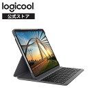 ロジクール iPad Pro 12.9 インチ 第3世代 第4世代 対応 Bluetooth キーボード 英語配列 薄型 ケース 一体型 iK1274A バックライト付 国内正規品 2年間メーカー保証