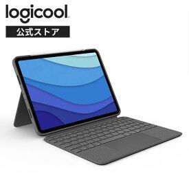 ロジクール iPad Pro 12.9インチ 第5世代対応 トラックパッド付き キーボード一体型ケース Combo Touch iK1275GRA 日本語配列 バックライト付き スマートコネクタ 国内正規品 2年間無償保証