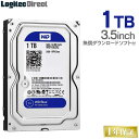 WD Blue WD10EZRZ 内蔵ハードディスク HDD 1TB 3.5インチ ロジテックの保証・無償ダウンロード可能なソフト付 Western…