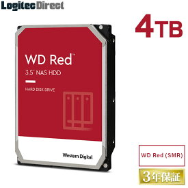 WD Red WD40EFAX 内蔵ハードディスク SMR HDD 4TB 3.5インチ Western Digital(ウエスタンデジタル)【LHD-WD40EFAX】 4TPS