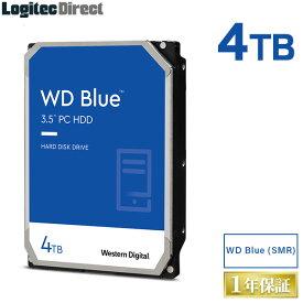 WD Blue(SMR)WD40EZAZ 内蔵ハードディスク HDD 4TB 3.5インチ ロジテックの保証・無償ダウンロード可能なソフト付 ウエデジ【LHD-WD40EZAZ】