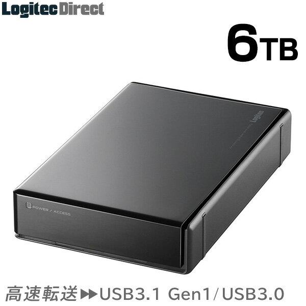 ハードディスク HDD 6TB 外付け 3.5インチ USB3.0 テレビ録画 国産 省エネ静音 WD Blue搭載 ロジテック製【LHD-EN60U3WS】