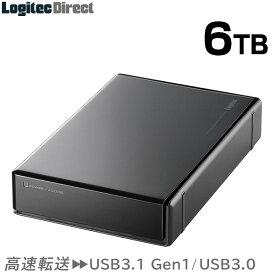 ロジテック HDD 6TB USB3.1(Gen1) / USB3.0 国産 テレビ録画 4K録画 省エネ静音 外付け ハードディスク TV 3.5インチ PS4/PS4 Pro対応【LHD-EN60U3WS】