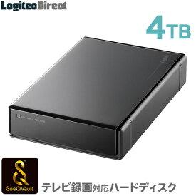 ロジテック SeeQVault対応 外付けHDD ハードディスク 4TB テレビ録画 テレビレコーダー シーキューボルト 3.5インチ USB3.1(Gen1) / USB3.0 【LHD-EN40U3QW】