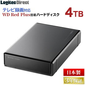 外付け HDD LHD-ENA040U3WR WD Red plus WD40EFZX 搭載ハードディスク 4TB USB3.1 Gen1 / USB3.0/2.0 ロジテックダイレクト限定 特選品