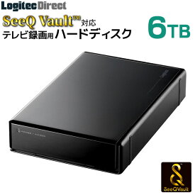 ロジテック SeeQVault対応 外付けHDD ハードディスク 6TB テレビ録画 テレビレコーダー シーキューボルト 3.5インチ USB3.2 Gen1 (USB3.0)【LHD-ENB060U3QW】 sqw pp4 4p5