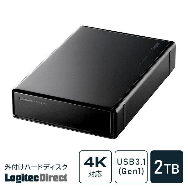 ロジテック HDD 2TB USB 国産 テレビ録画 省エネ静音 WD Blue WD20EZRZ 外付け ハードディスク TV 3.5インチ 【LHD-ENA020U2W】