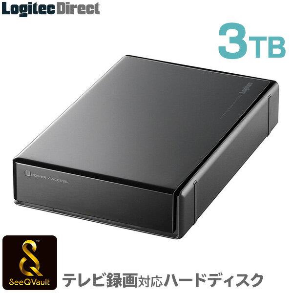 ロジテック SeeQVault対応 外付けHDD ハードディスク 3TB テレビ録画 テレビレコーダー シーキューボルト 3.5インチ USB3.1(Gen1) / USB3.0 【LHD-EN30U3QW】