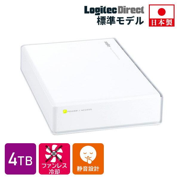 ハードディスク HDD 4TB 外付け 3.5インチ USB3.0 テレビ録画 国産 省エネ静音 WD Blue搭載 ロジテック製【LHD-ENA040U3WSH】