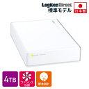 ロジテック HDD 4TB USB3.1(Gen1) / USB3.0 国産 テレビ録画 4K録画 省エネ静音 外付け ハードディスク TV 3.5インチ …