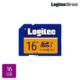 【メール便送料無料】ロジテック SDカード 16GB ドライブレコーダー向け MLC採用高耐久SDメモリーカード【LMC-SD16G】
