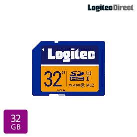 【メール便送料無料】ロジテック SDカード 32GB ドライブレコーダー向け MLC採用高耐久SDメモリーカード【LMC-SD32G】