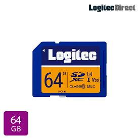 【メール便送料無料】ロジテック SDカード 64GB ドライブレコーダー向け MLC採用高耐久SDメモリーカード【LMC-SD64G】