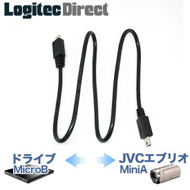 JVCビデオカメラ エブリオ向けBDライター用USBケーブル MicroB - MiniA メール便送料無料 【CB-MAMBU2-005】