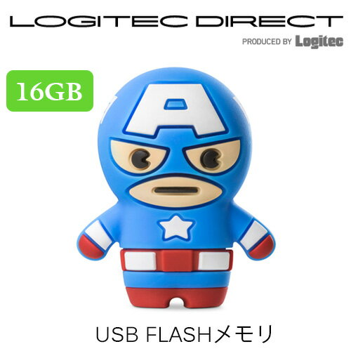 Bone collection フラッシュメモリー USBメモリー 16GB Captain America キャプテンアメリカ 【DR18031-16B】