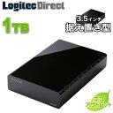 【訳あり】エレコム 外付けHDD 1TB テレビ録画 外付けハードディスク HDD USB3.1 Gen1(USB3.0) 3.5インチ ブラック …